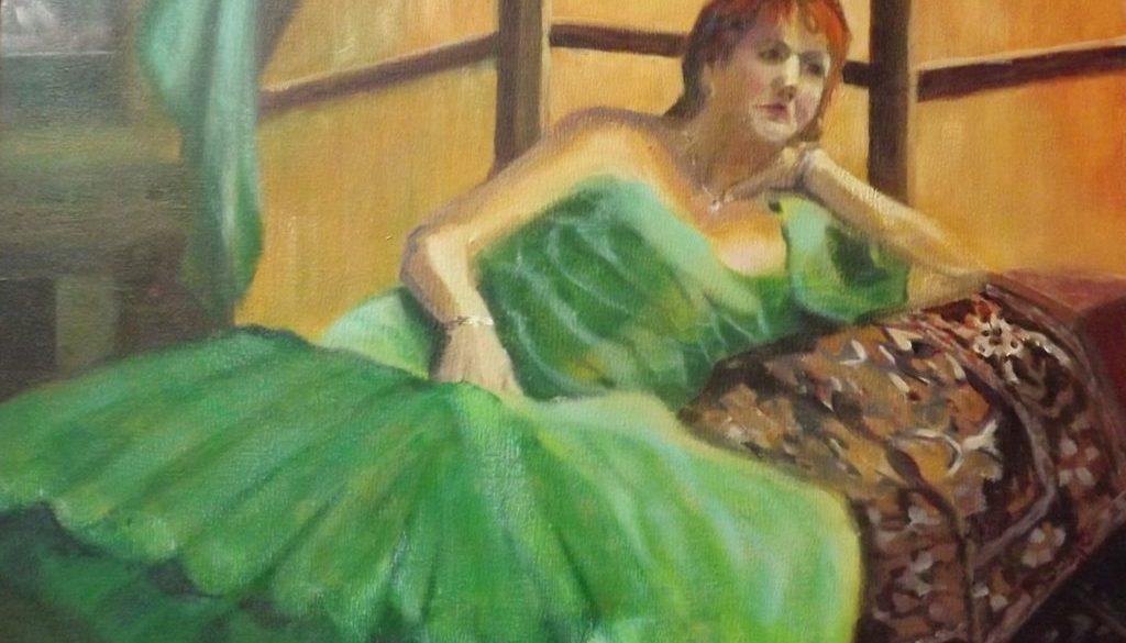 M in het groen