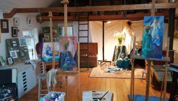 Opstelling in het atelier 2