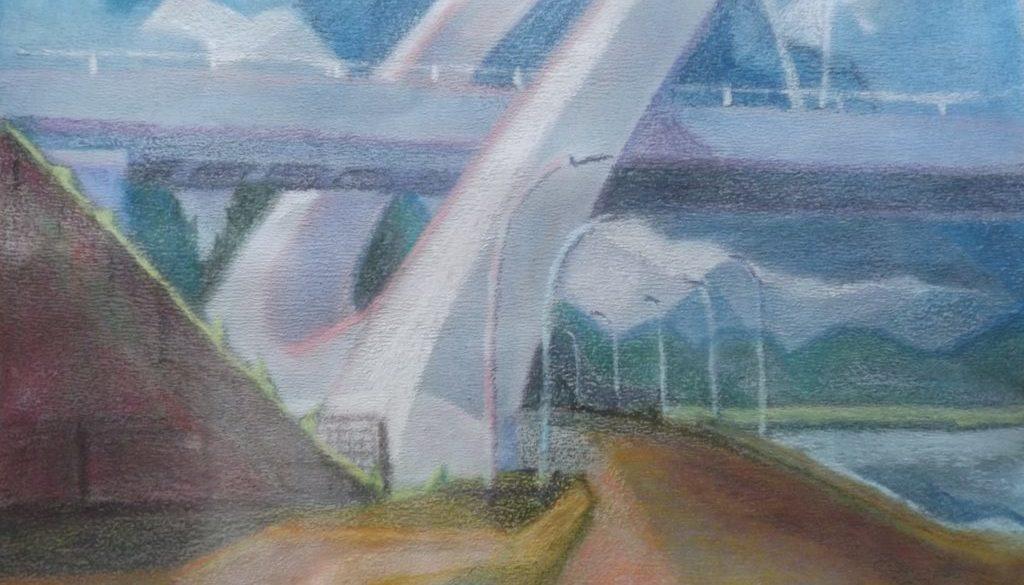 Spoorbrug bij Zuidhorn